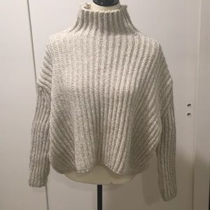 Zara Knit Heavyweight Oversized Turtleneck Sweater